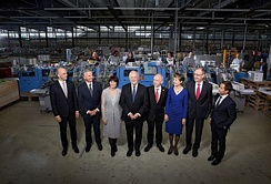 The Swiss Federal Council in 2016 with President Johann Schneider-Ammann (front, centre)[note 7]