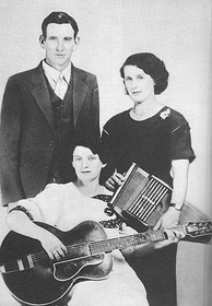 The Carter Family, are a dynasty of country music and began with (left to right) A.P. Carter, wife Sara Carter and Maybelle Carter