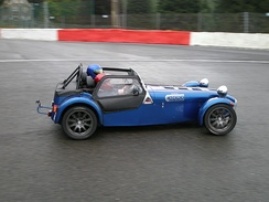 Caterham 7 on track at Spa-Francorchamps
