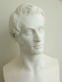An 1842 bust of Charles Sumner by Thomas Crawford