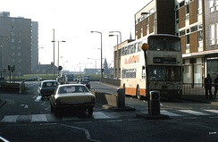 Cleveland Street approach to Trafford Way (1980)