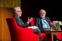 Turner and CNN's Wolf Blitzer, May 2015