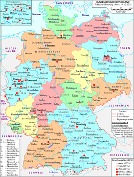 General map of Germany