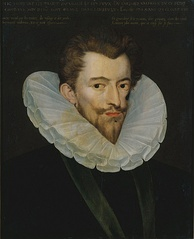 Henry, Duke of Guise, by Pierre Dumoûtier. Disarmed by Catherine's sweetness on meeting her for negotiations at Épernay in 1585, Guise tearfully insisted that his motives had been misunderstood. Catherine told him it would be better if he took off his boots and ate something, after which they could talk at length.