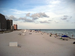 Alabama's beaches are one of the state's major tourist destinations.