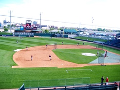Haymarket Park, home to the Lincoln Saltdogs, an independent baseball team in Lincoln, Nebraska