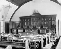 Courtroom in the Old Supreme Court building