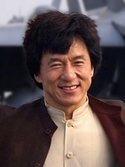 Jackie Chan enjoys his experiences on the flight deck aboard USS Kitty Hawk (CV 63) 2 December 2002.