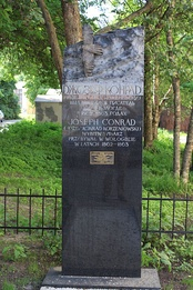 Monument to Conrad in Vologda, Russia, to which Conrad and his parents were exiled in 1862