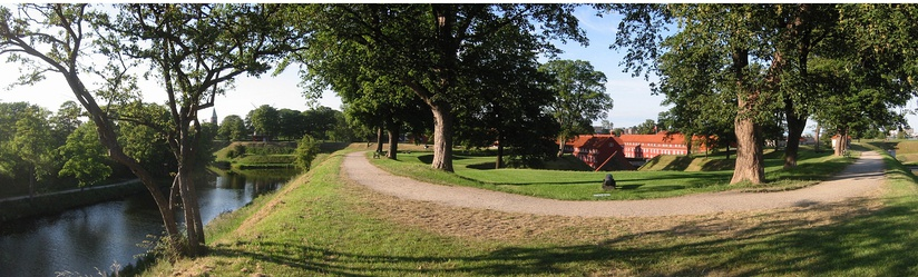 The citadel of Kastellet, Copenhagen that has been converted into a park, showing multiple examples of suburban land use