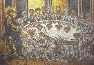 Last Supper, mosaic