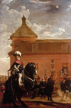 Prince Baltasar Carlos with the Count-Duke of Olivares outside the Buen Retiro palace, by Diego Velázquez, 1636