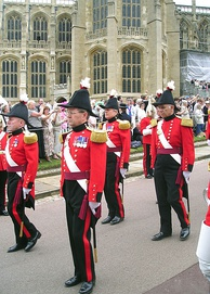 Military Knights of Windsor in the procession to the Garter Service