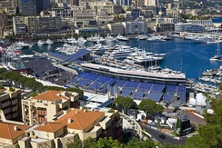 The Monte Carlo harbour during the days of the 2016 Formula One race