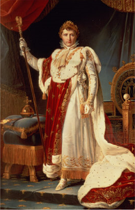 Napoleon in coronation robes by François Gérard