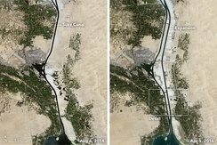 Before and after Suez Canal expansion