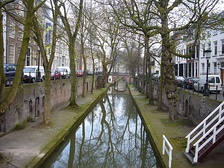 Canal in the City of Utrecht, part of the Randstad conurbation