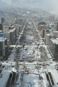 The snowy city of Sapporo, Japan, has a humid continental climate (Köppen Dfa).