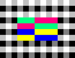 Test card used by NPO from 1978 until 1988. This test card was also used by ORF in Austria.[4]