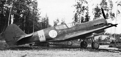 The only Finnish Warhawk in 1944. This aircraft was a former Soviet P-40M (known as Silver 23).