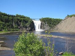 Montmorency Falls is a major waterfall in the city's east end.