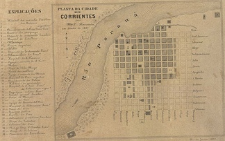 Plan of the city of Corrientes in June 1867.