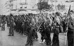 Republican volunteers at Teruel, 1936