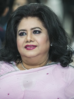 Runa Laila, a leading playback singer of South Asia since the 1960s, is based in Bangladesh