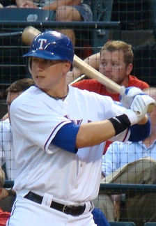 Smoak as a rookie for the Texas Rangers in 2010