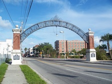 Gateway to Ybor City on 7th. Ave near the Nick Nuccio Parkway.