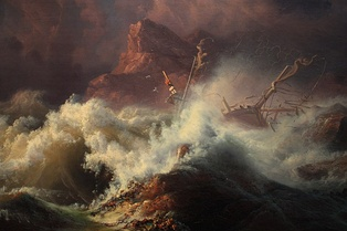 The Wreck, by Knud-Andreassen Baade c.1835