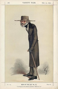 Caricature by Ape published in Vanity Fair in 1870