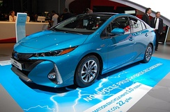 The Toyota Prius Prime has an all-electric range of 25 mi (40 km).