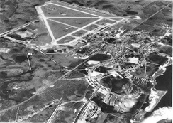 Oblique aerial photo of Tyndall Field looking eastward, about 1944