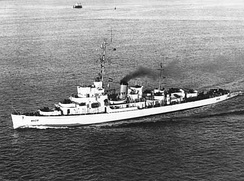 USCGC Finch (WDE-428), a former US Navy Edsall class destroyer escort