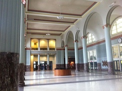 Union Station Lobby is the main entrance to Minute Maid Park, and the former concourse of Houston's original Union Station built in 1911.