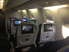 Economy plus seats on a Boeing 767