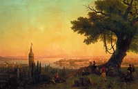 Three paintings of Ottoman era Istanbul by Ivan Aivazovsky