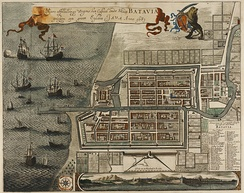 Dutch Batavia in 1681, built in what is now North Jakarta