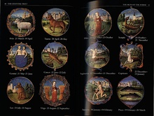 pp. 40–41: the signs of the zodiac, miniatures from a book of hours.