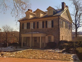 Trout Hall (built 1770) is the oldest house in Allentown, Pennsylvania, and was built by James Allen, son of William Allen.  From 1867 to 1905, it was also the home of Muhlenberg College.