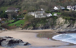One of the two beaches in Aberporth