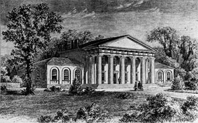 Arlington House from a pre-1861 sketch, published in 1875