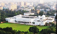 Bangabhaban, official residence of the president, located at Dhaka.