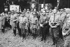 Nazis alongside members of the far-right reactionary and monarchist German National People's Party (DNVP) during the brief NSDAP–DNVP alliance in the Harzburg Front from 1931 to 1932