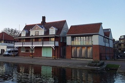 The boathouse of the Cambridge University Boat Club