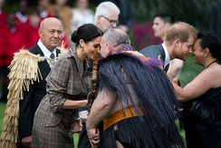 The Duke and Duchess of Sussex welcomed to New Zealand in 2018