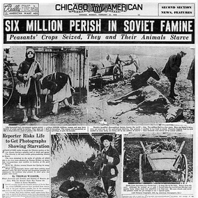 American press with information about famine