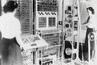 A Mark 2 Colossus computer. The ten Colossi were the world's first programmable electronic computers, and were built to break the German codes.
