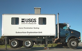 A CPT truck operated by the USGS.